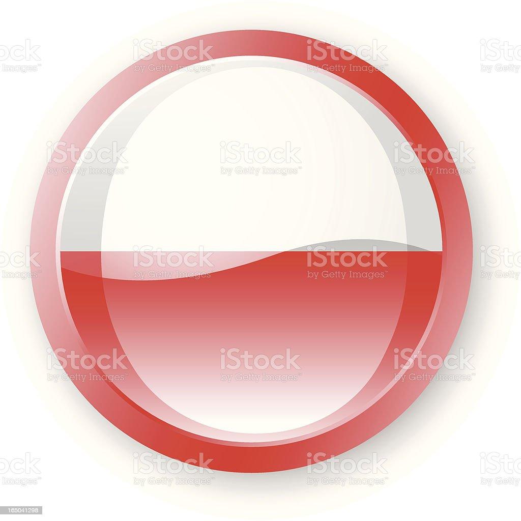 Polish Flag Icon royalty-free stock vector art