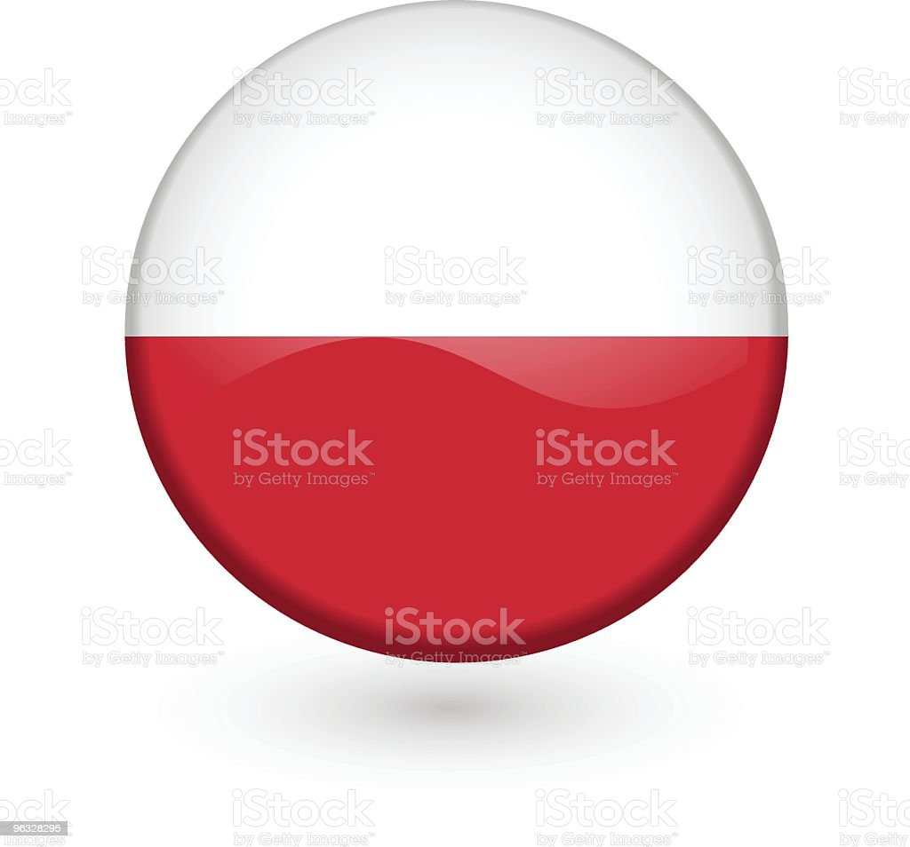 Polish flag vector button royalty-free stock vector art