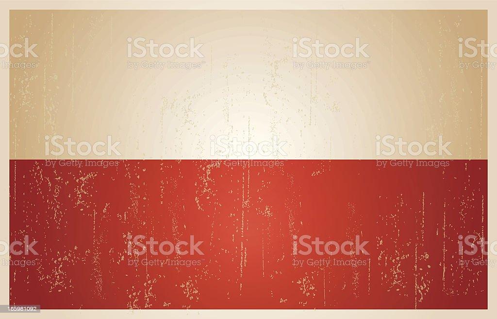 Polish grunge vintage flag royalty-free stock vector art