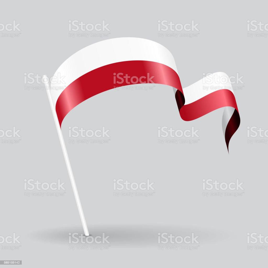Polish wavy flag. Vector illustration. vector art illustration