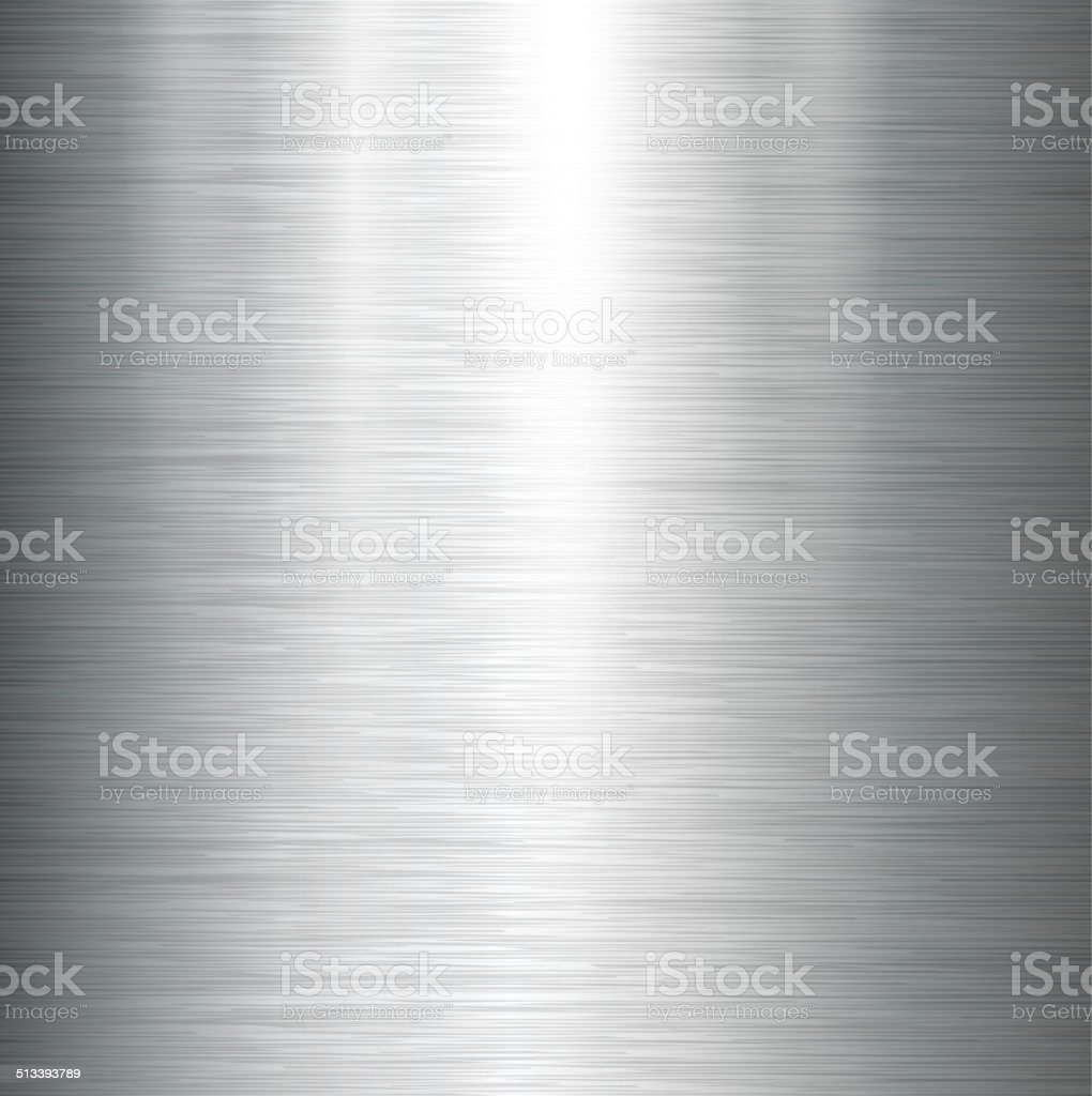 Polished metal texture. vector art illustration