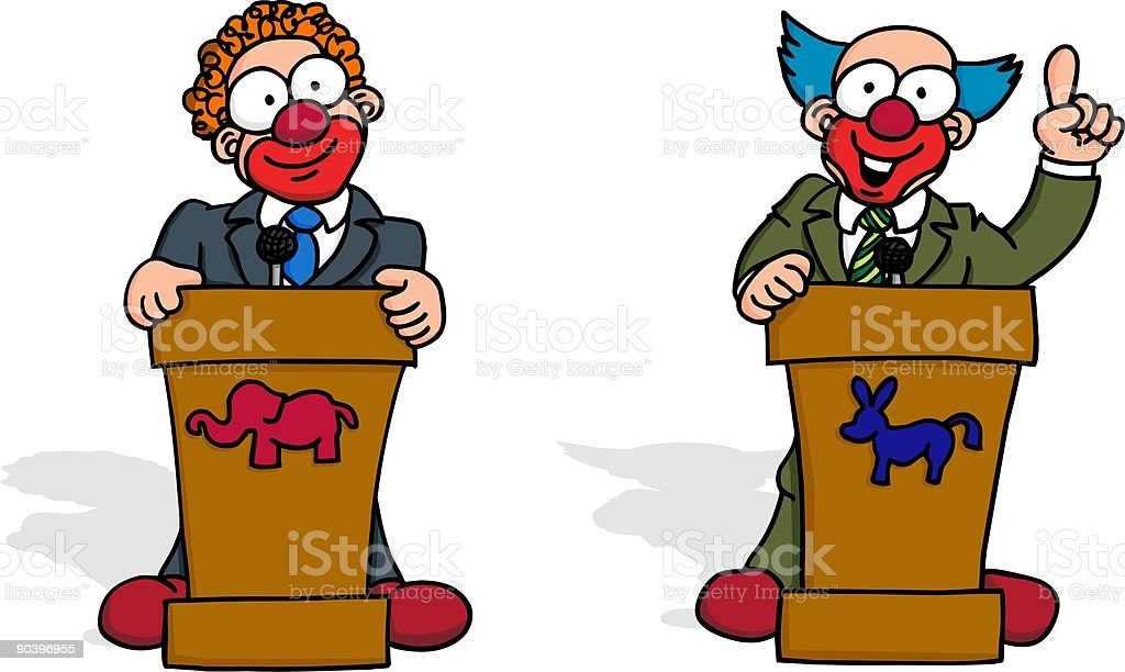 Political Debate royalty-free stock vector art