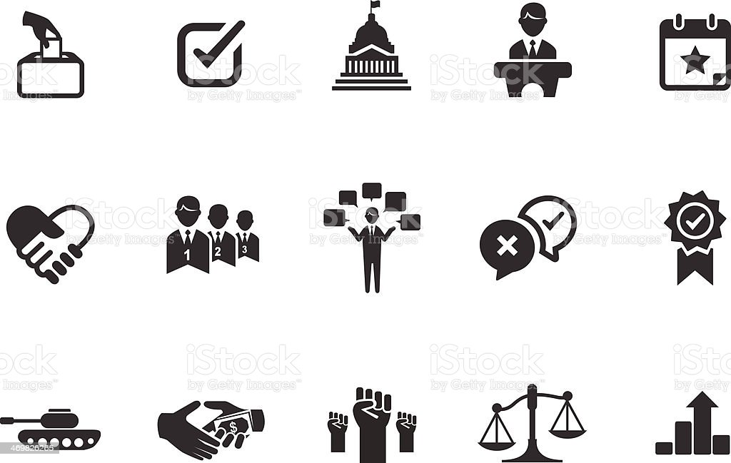 Political icons illustration vector art illustration