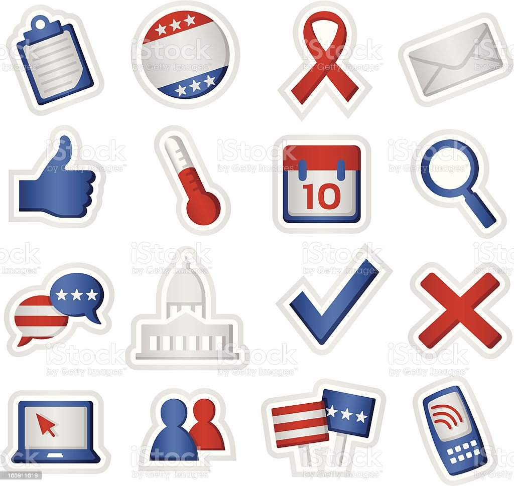 Political Icons royalty-free stock vector art