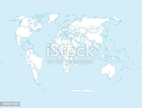Mapa poltico del mundo illustracion libre de derechos 490614542 mapa poltico del mundo illustracion libre de derechos 490614542 istock gumiabroncs Images