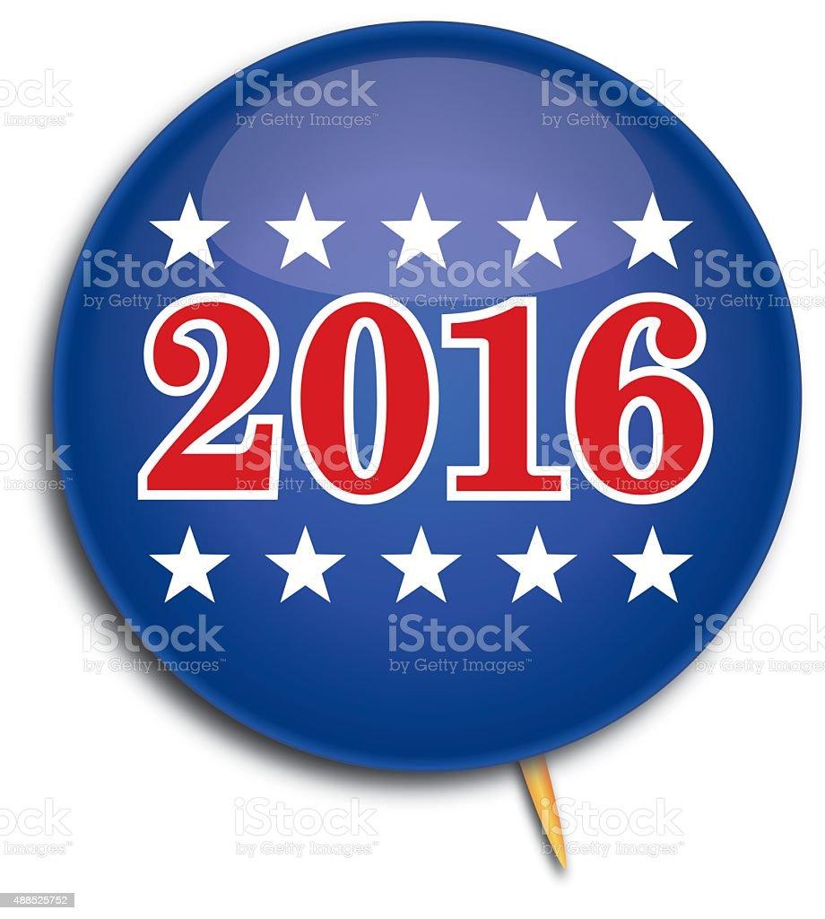 Political Pin 2016 vector art illustration