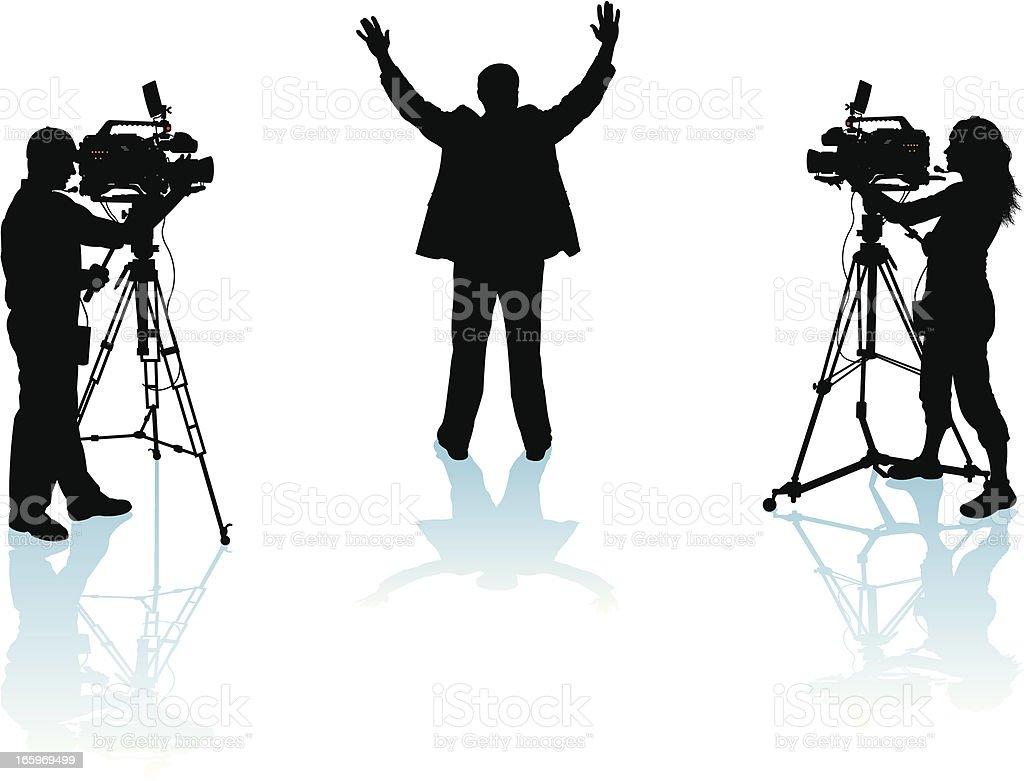 Politician or Public Speaker vector art illustration