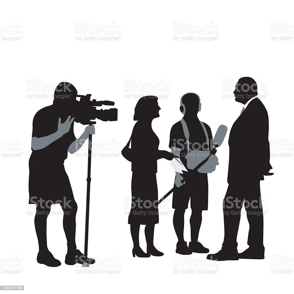Politician vector art illustration