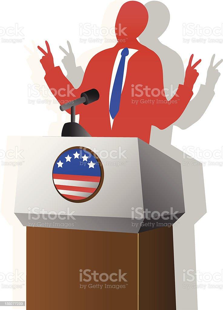 Politician [vector] royalty-free stock vector art