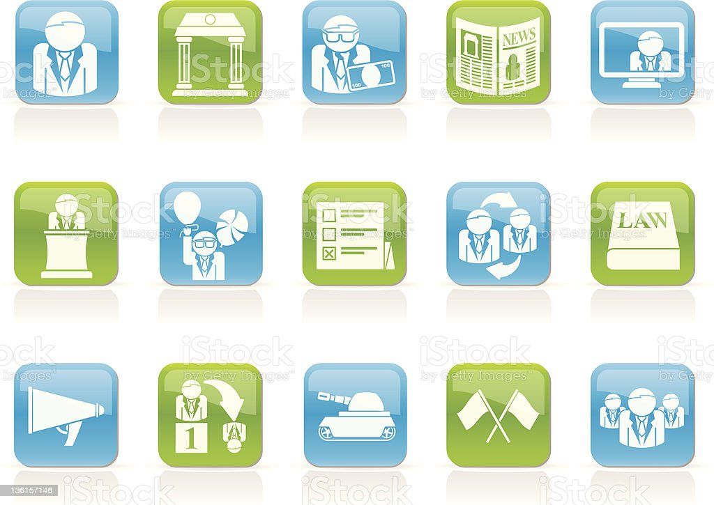 Politics, election and political party icons royalty-free stock photo