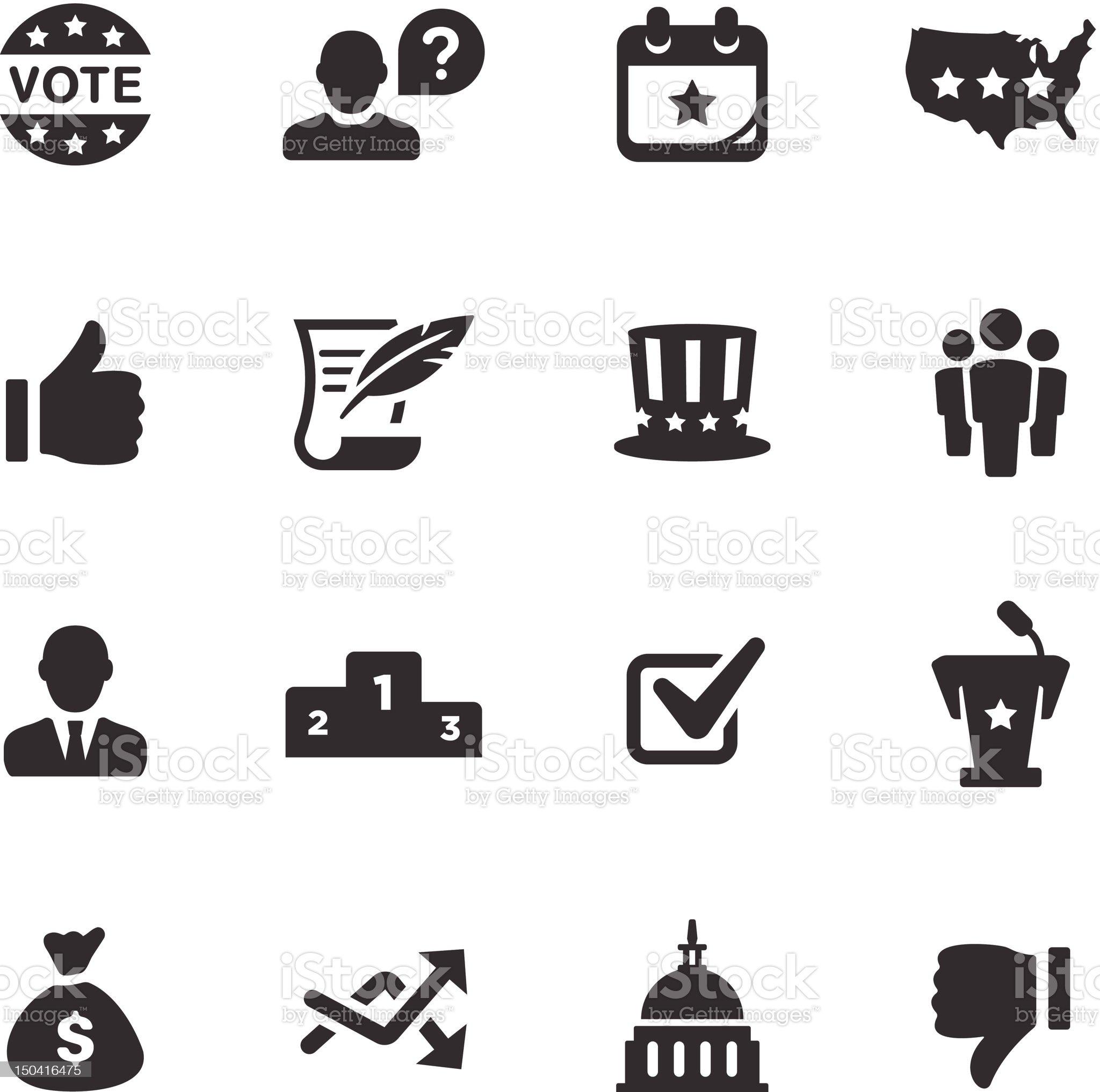 Politics Icons | Mono Series royalty-free stock vector art