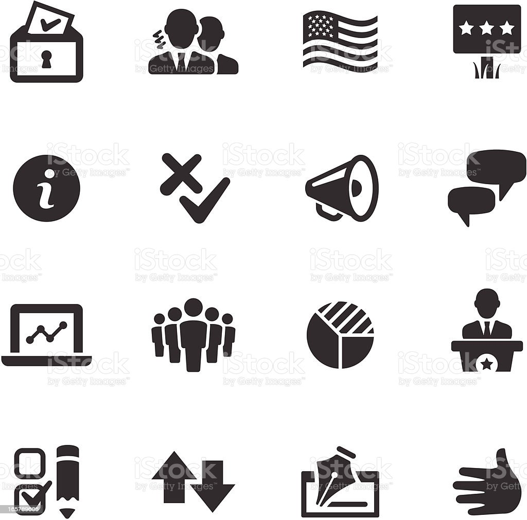 Politics Icons | Mono Series vector art illustration