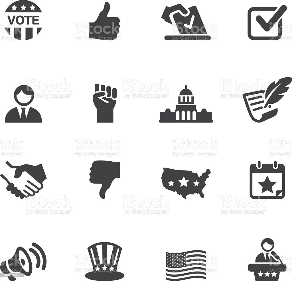 Politics Silhouette Icons 1 vector art illustration