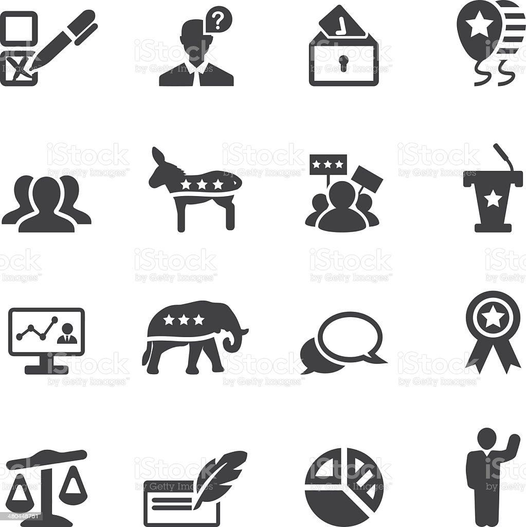 Politics Silhouette Icons 2 vector art illustration
