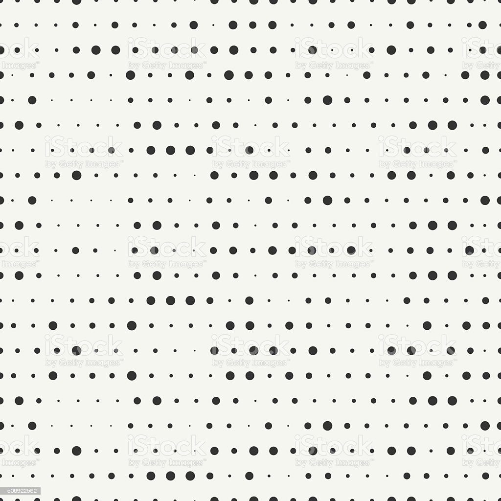 Polka dot. Geometric hipster seamless pattern with round, dotted circle. vector art illustration