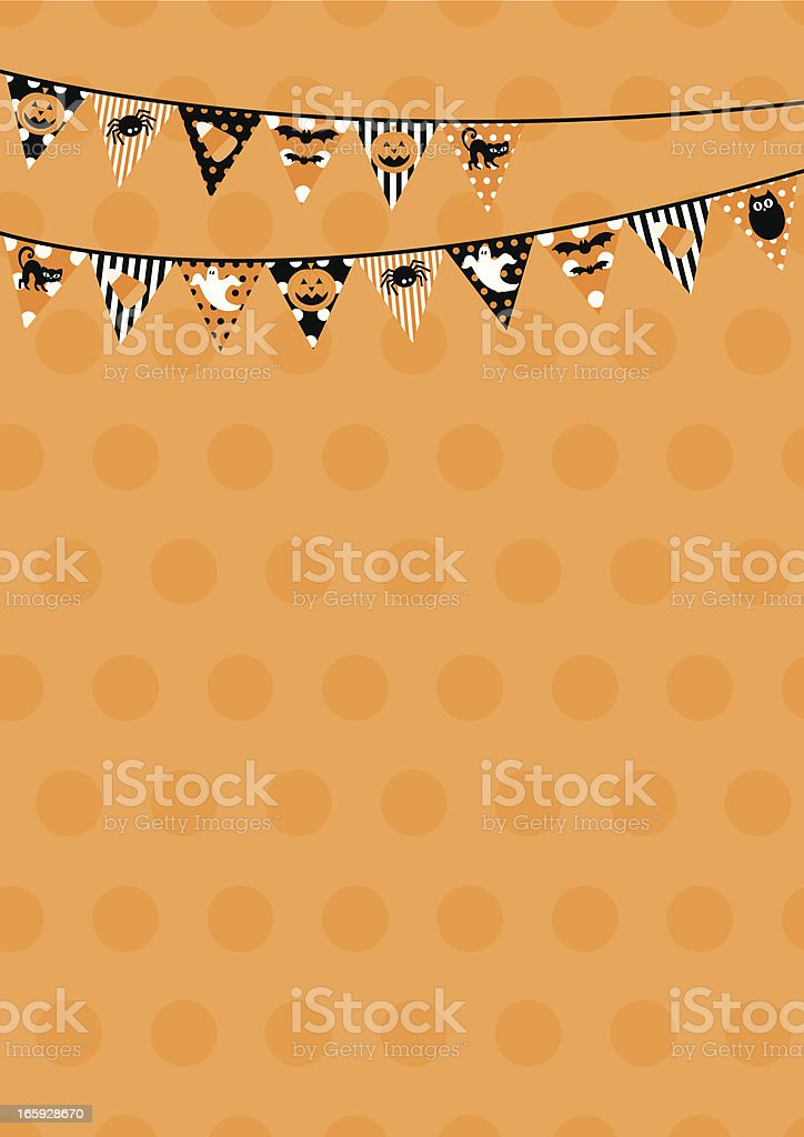 Polka Dot Halloween Bunting Design with Copy Space royalty-free stock vector art