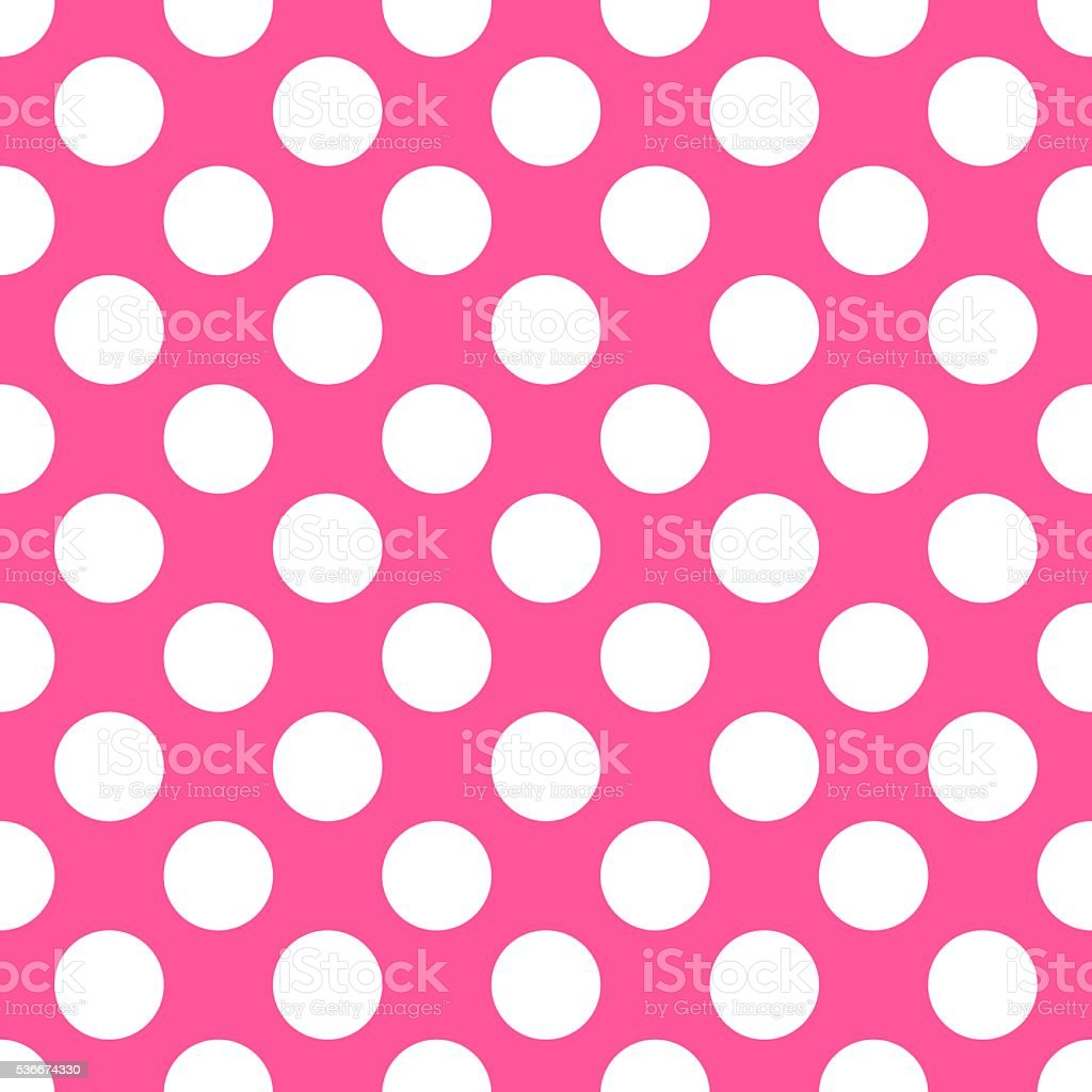 Polka dot pink pattern. Vector illustration vector art illustration