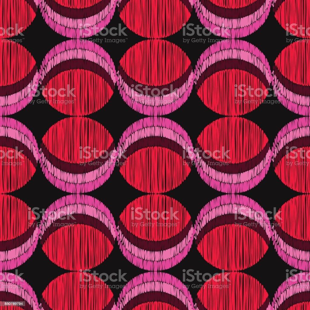 Polka dot seamless pattern. Scribble texture. Textile rapport. vector art illustration