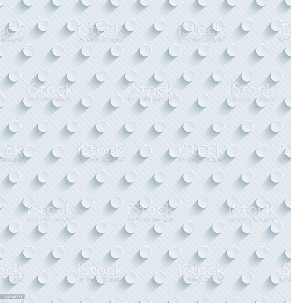 Polka dots 3D Seamless Wallpaper Pattern. vector art illustration