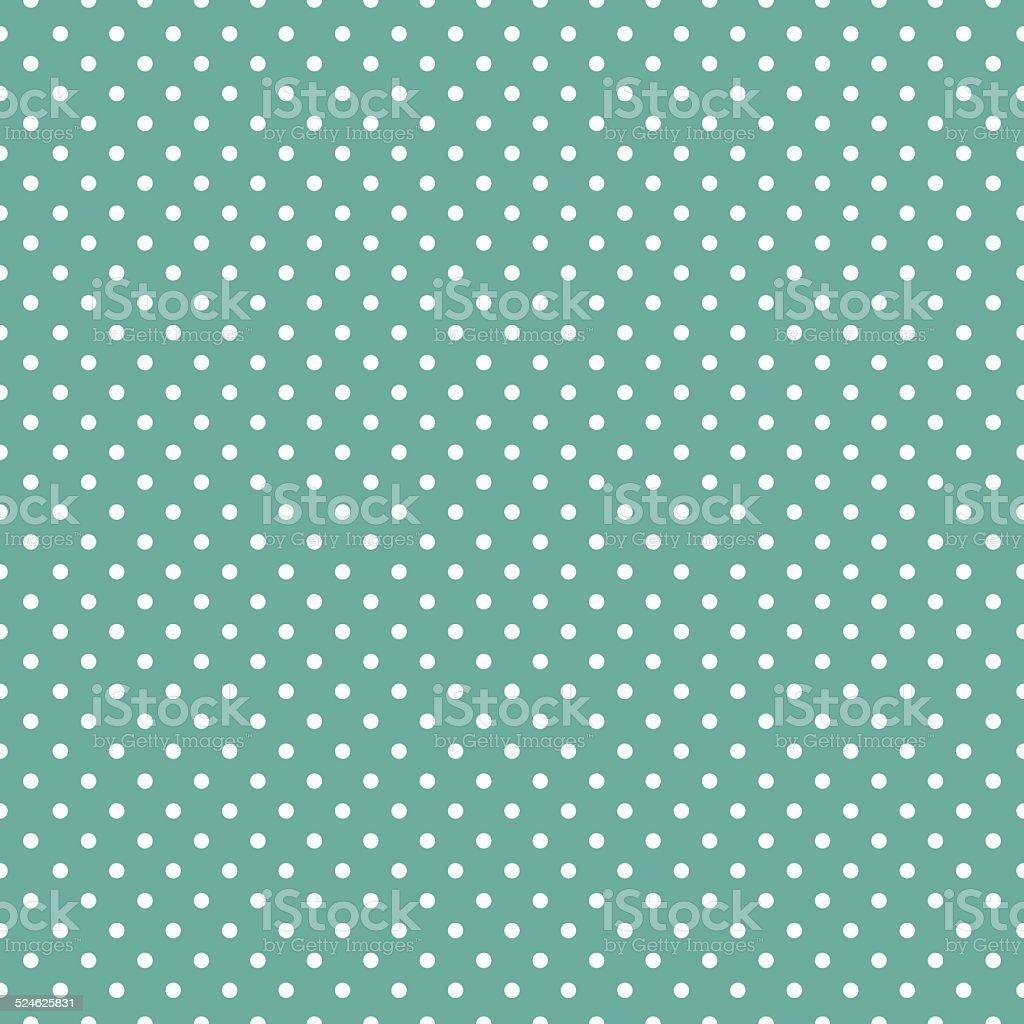 Polka dots on mint green background vector art illustration