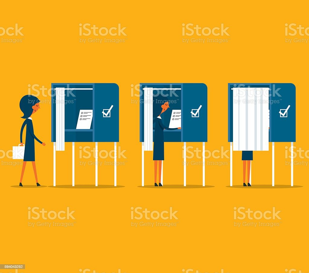 Polling Place vector art illustration