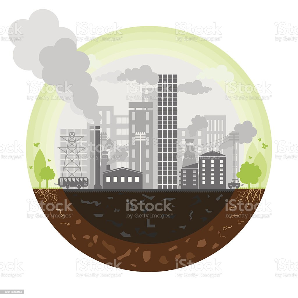 Polluted earth royalty-free stock vector art