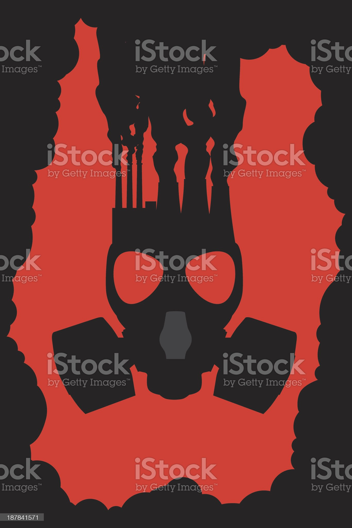 pollution factory royalty-free stock vector art