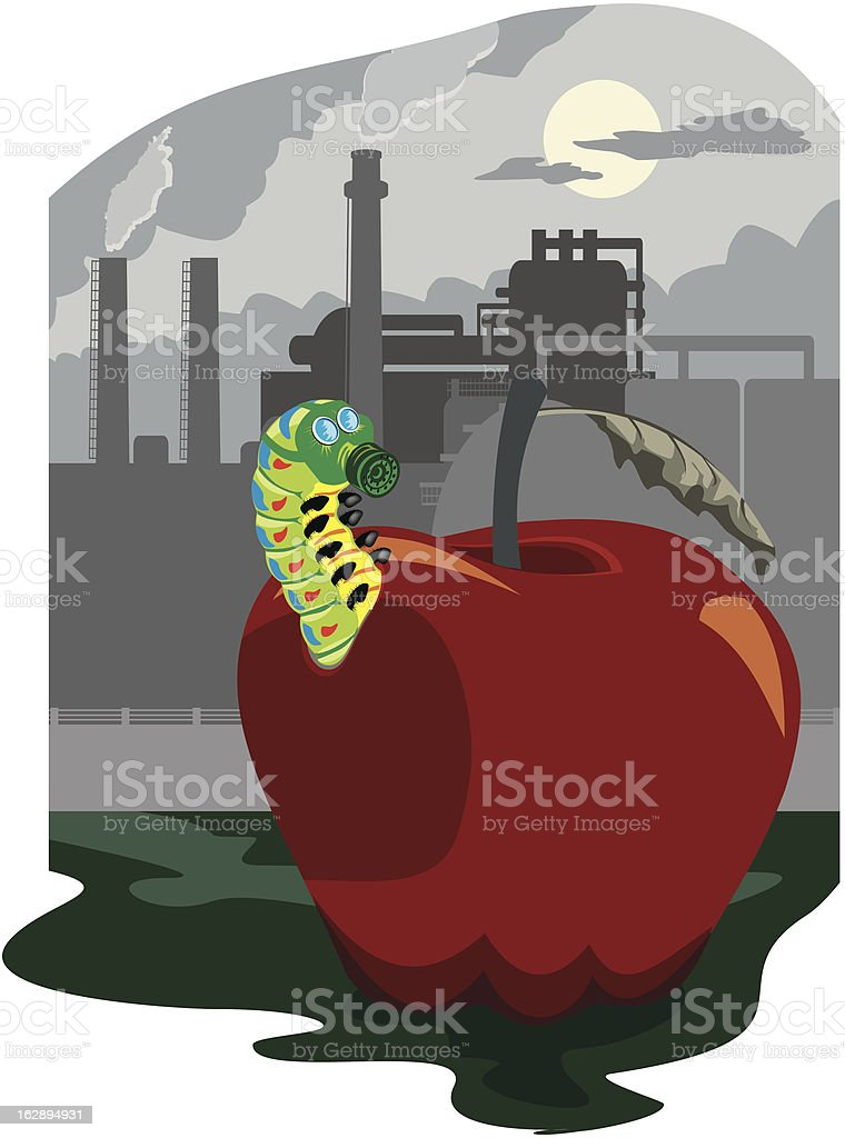 pollution of the environmental royalty-free stock vector art