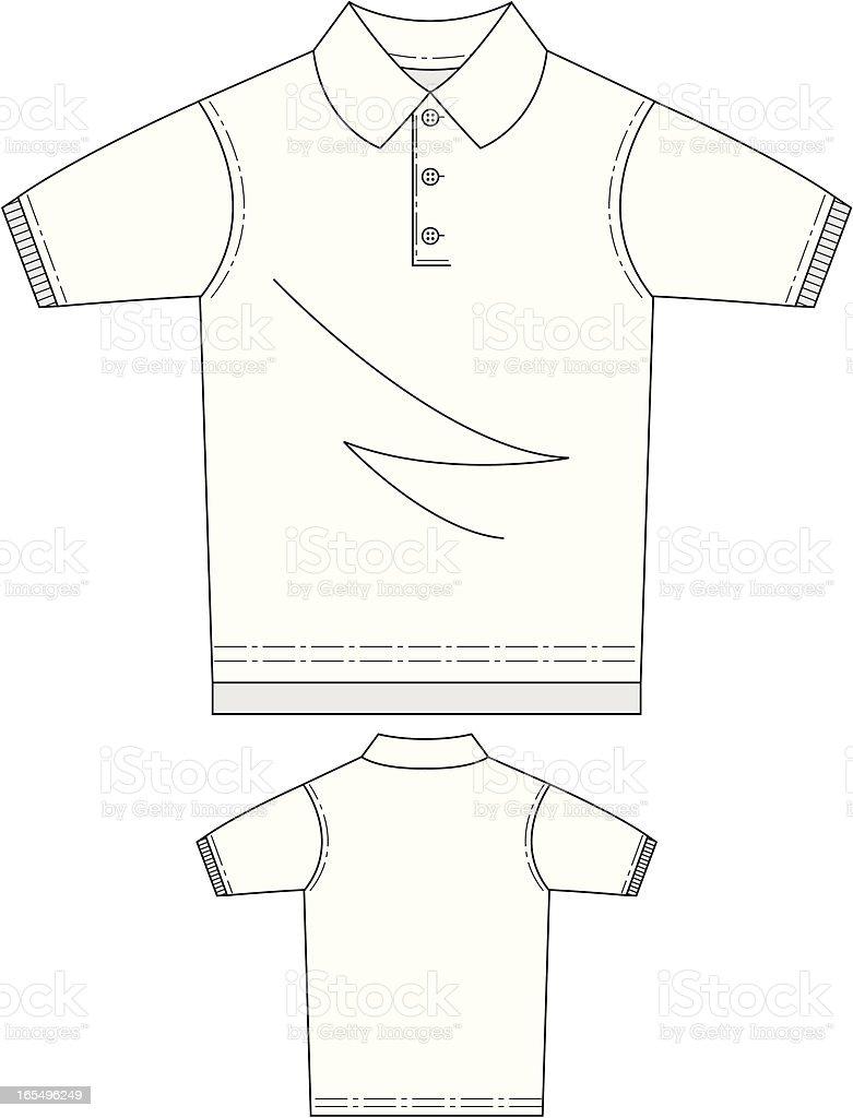 Polo Shirt Front & Back royalty-free stock vector art