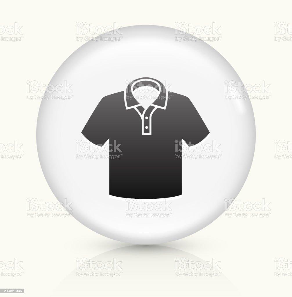 Polo Shirt icon on white round vector button vector art illustration