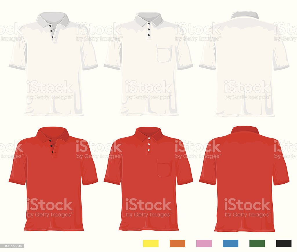 Polo shirt set royalty-free stock vector art
