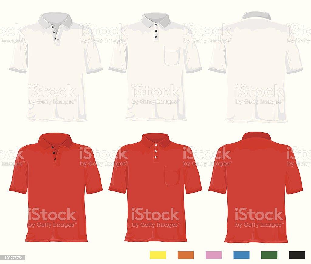 Polo shirt set vector art illustration