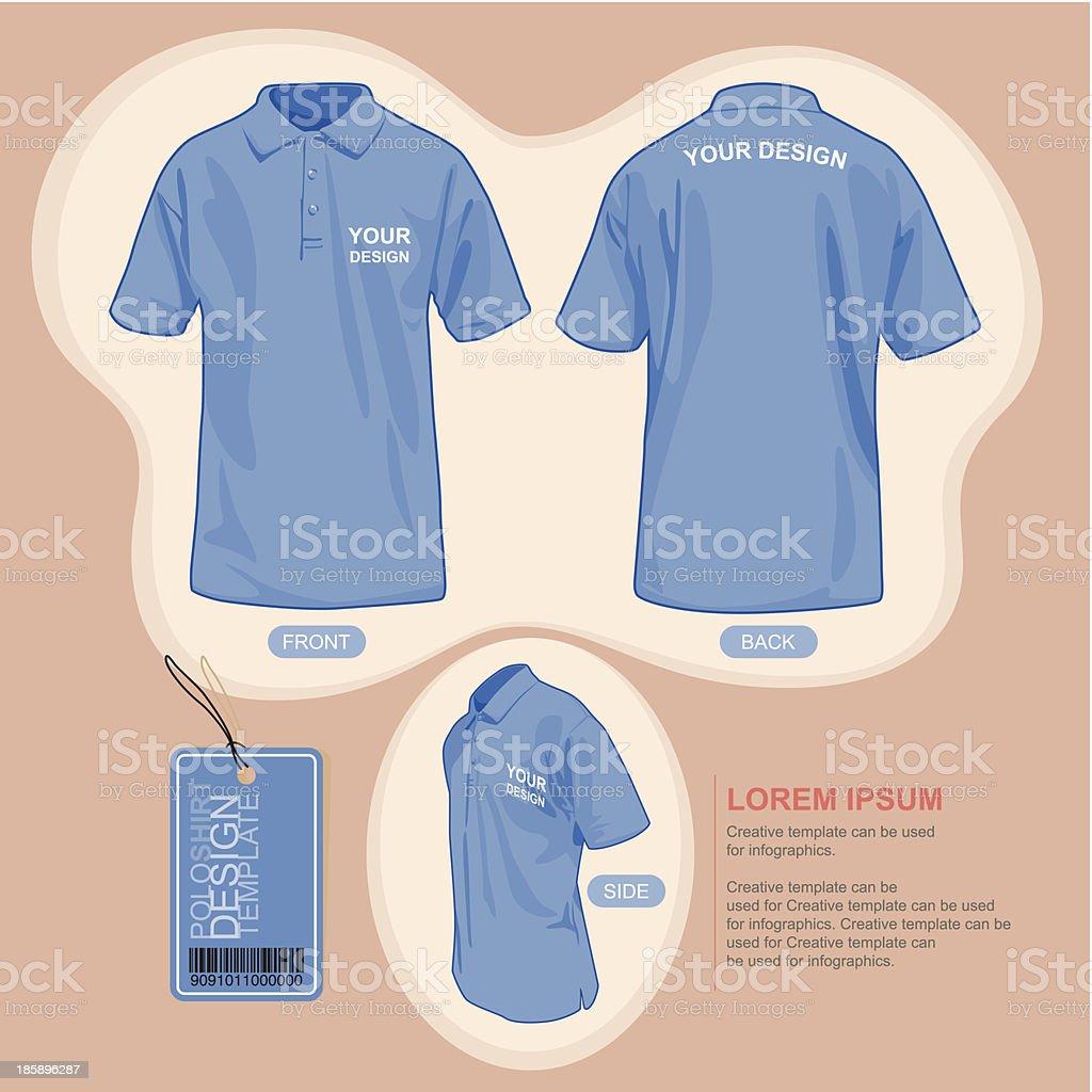 Polo shirt uniform template. vector art illustration