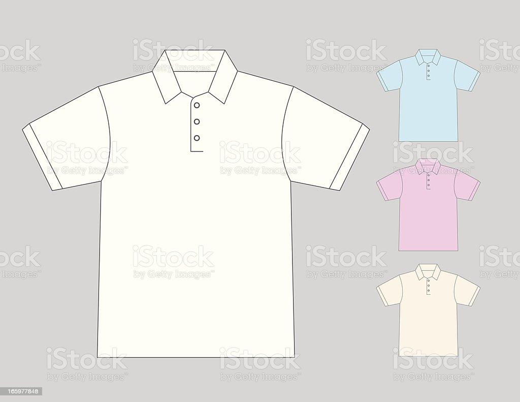 Polo shirt royalty-free stock vector art