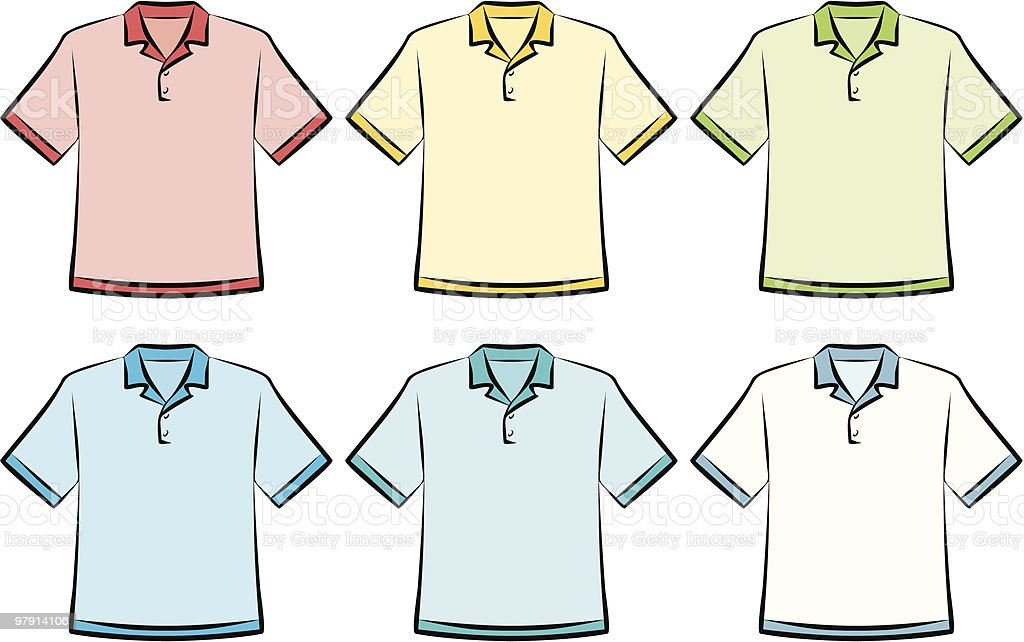 Polo shirts - Vector Illustration vector art illustration