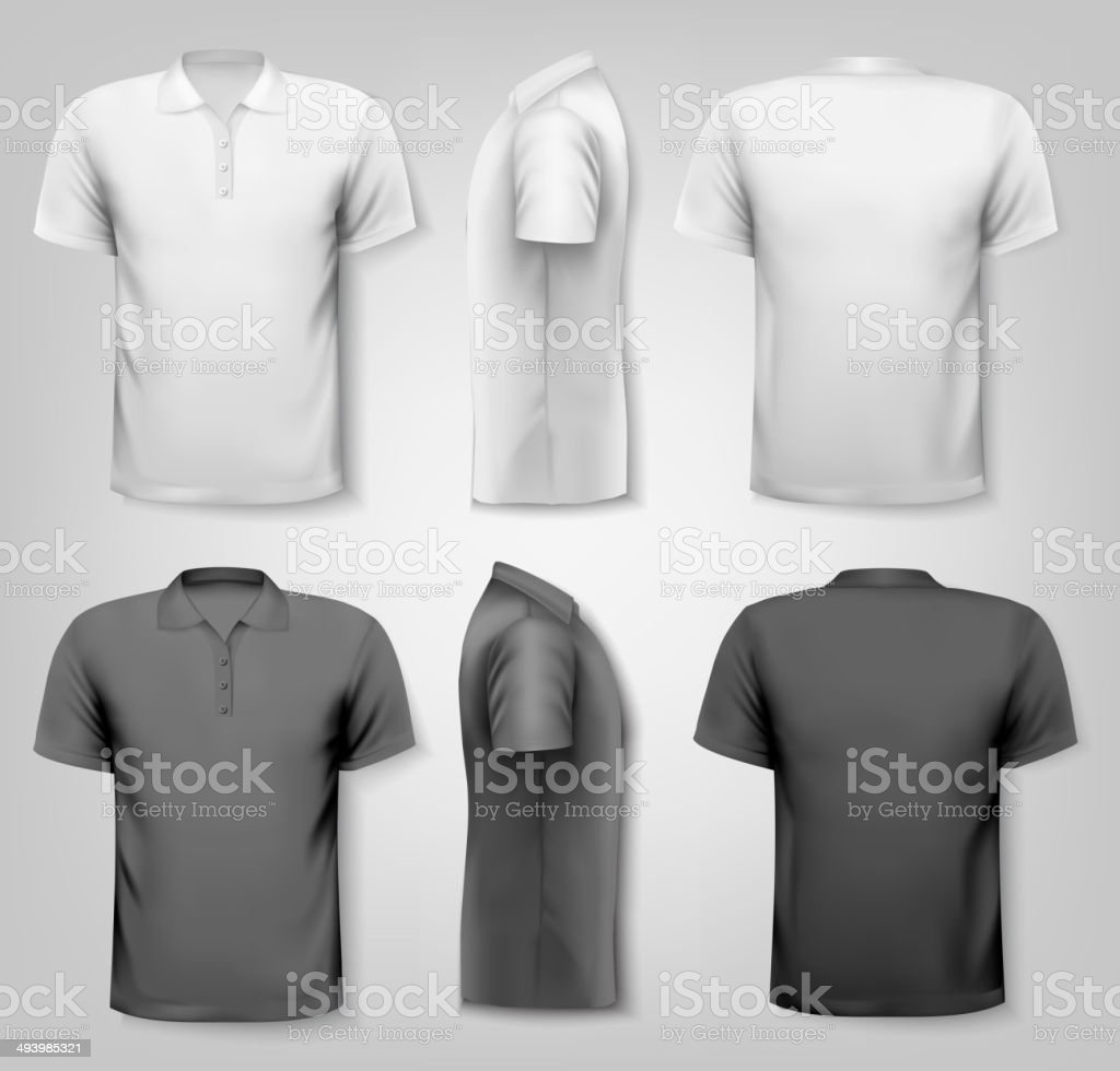 Polo shirts with sample text space. Vector. vector art illustration
