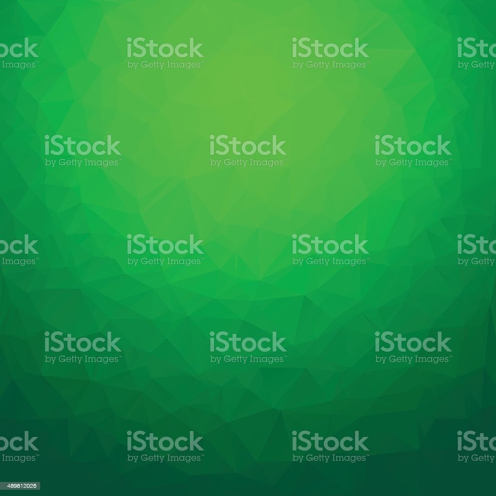 Polygon abstract background green vector art illustration