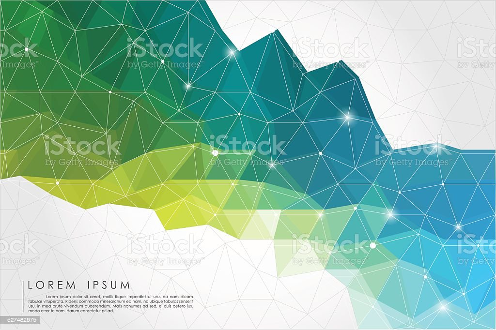 polygon abstract background vector art illustration