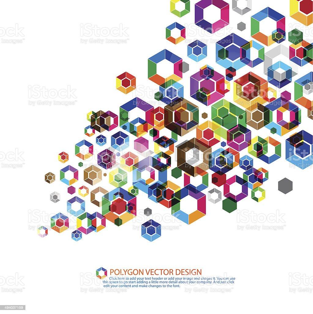 Polygon background vector art illustration