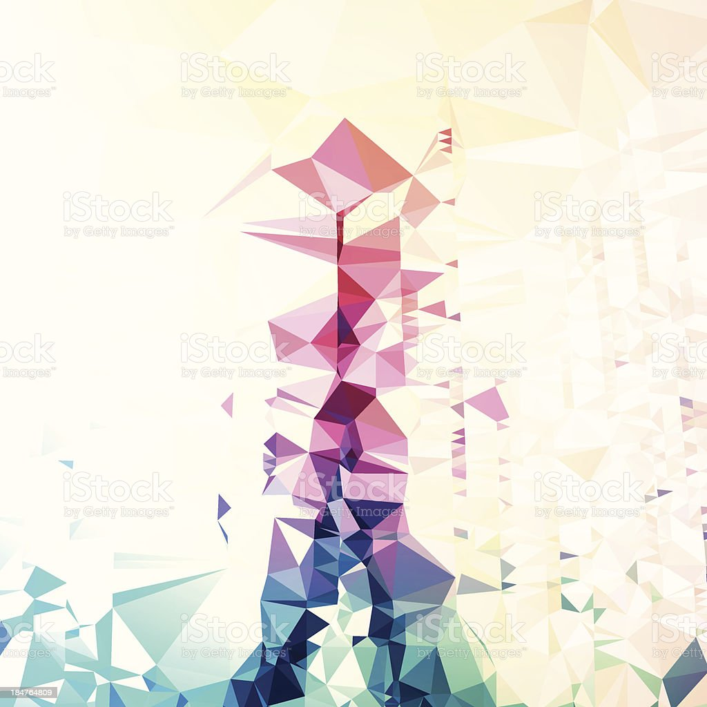 Polygon Color Flow Graphic Art Vector Abstract Background royalty-free stock vector art