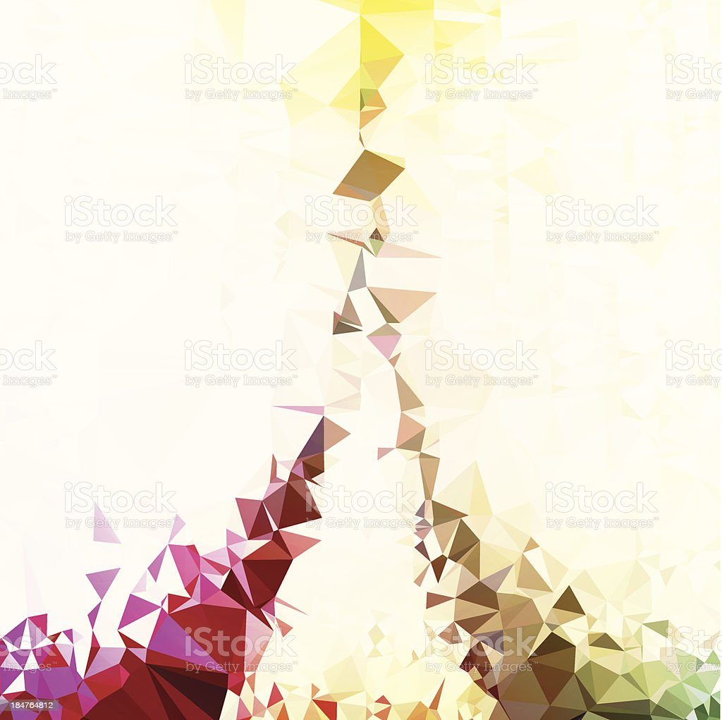 Polygon Color Flow Tower Graphic Art Vector Abstract Background royalty-free stock vector art