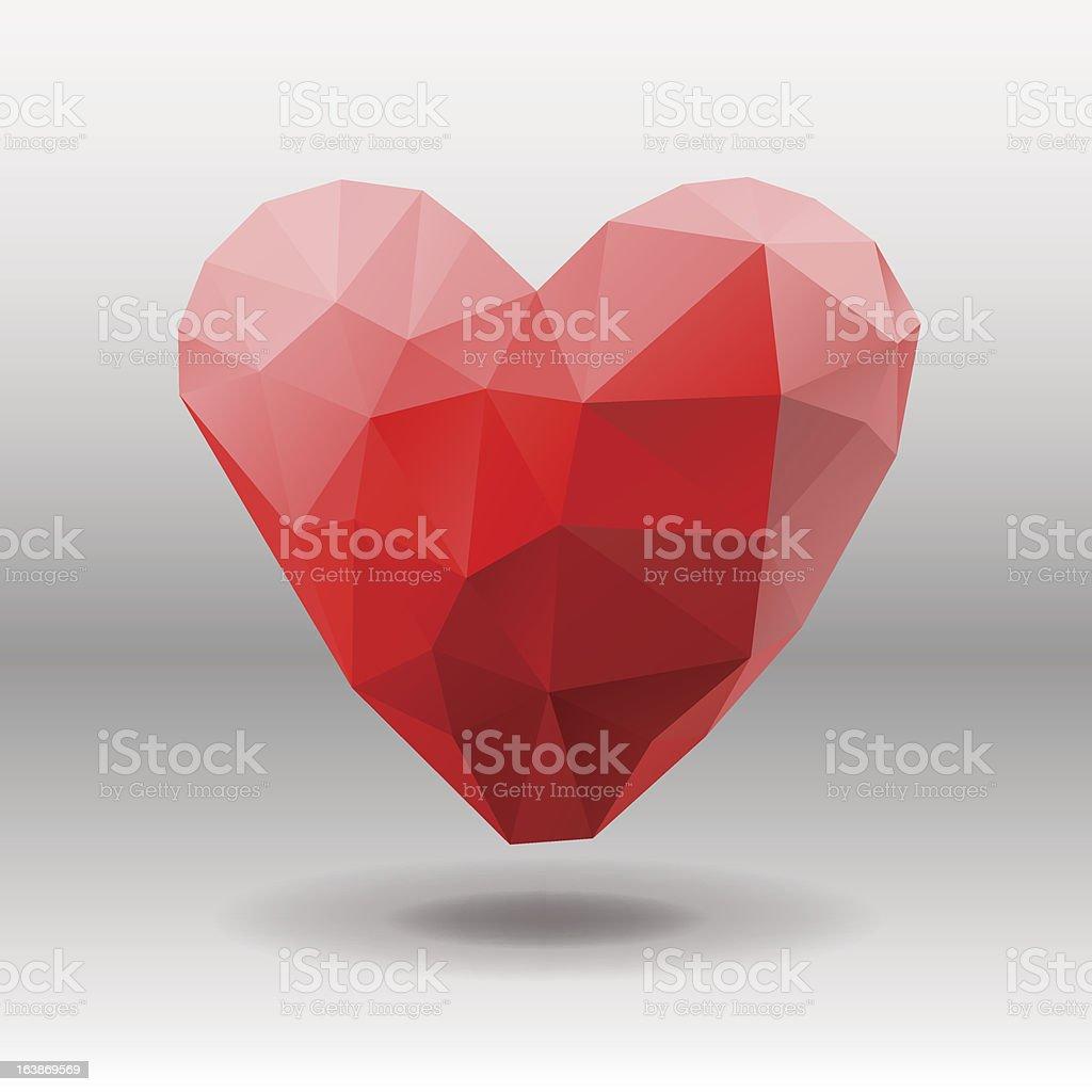 Polygon Heart, vector illustration. royalty-free stock vector art