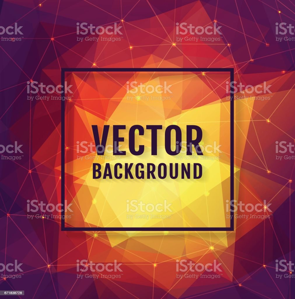 Polygonal background. Vector banner. vector art illustration