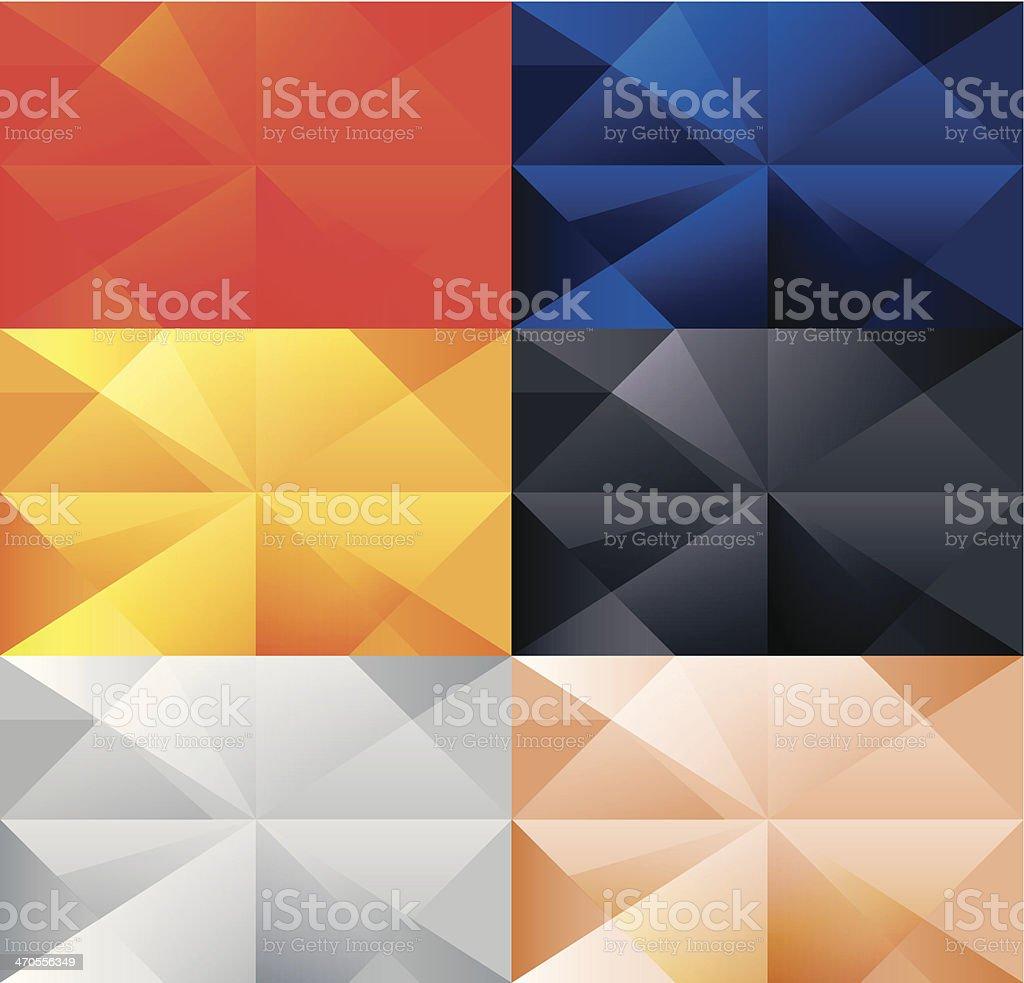 Polygonal backgrounds vector art illustration