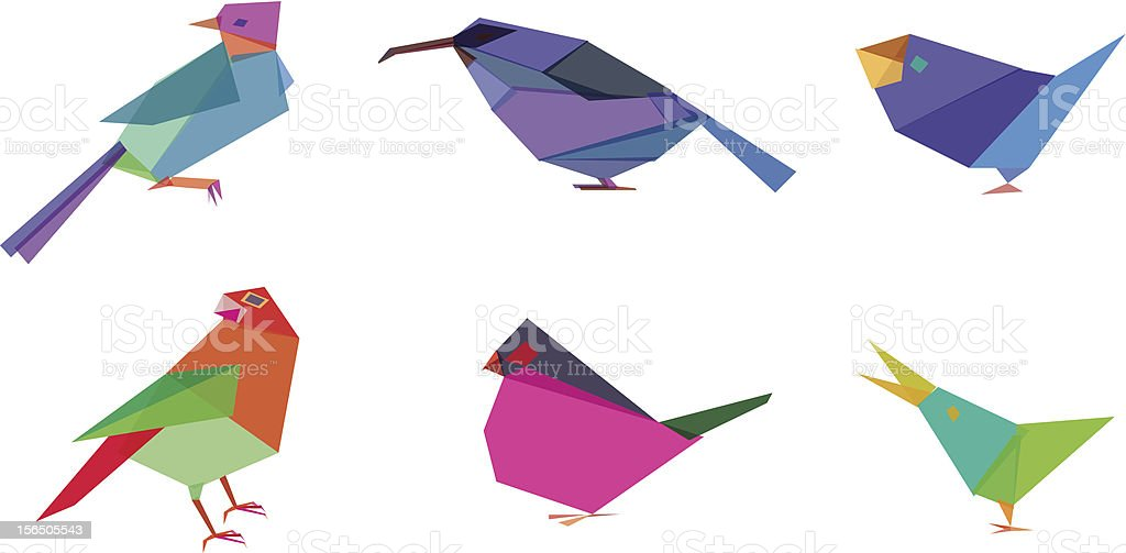 Polygonal Birds royalty-free stock vector art