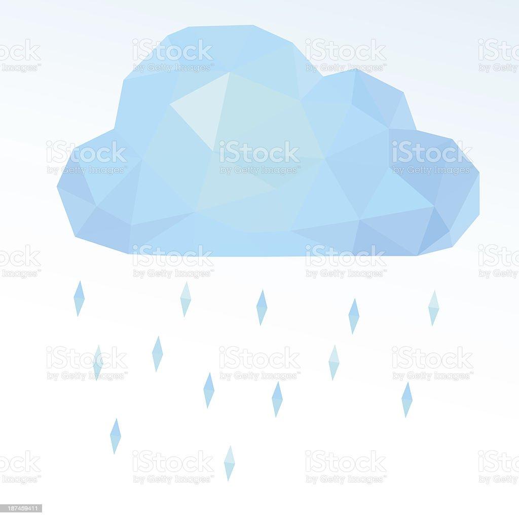 polygonal cloud. Vector illustration royalty-free stock vector art