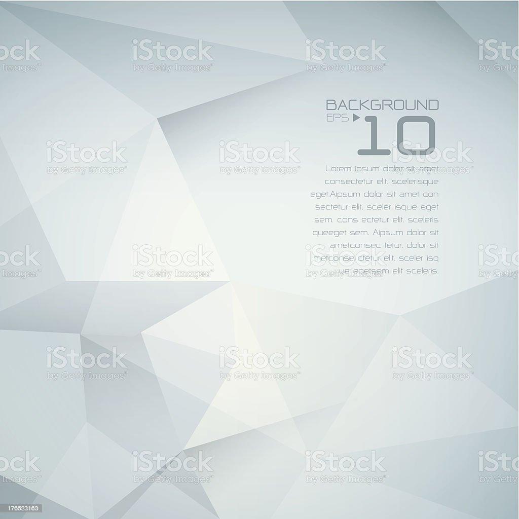 Polygonal design, Abstract geometrical background. vector art illustration