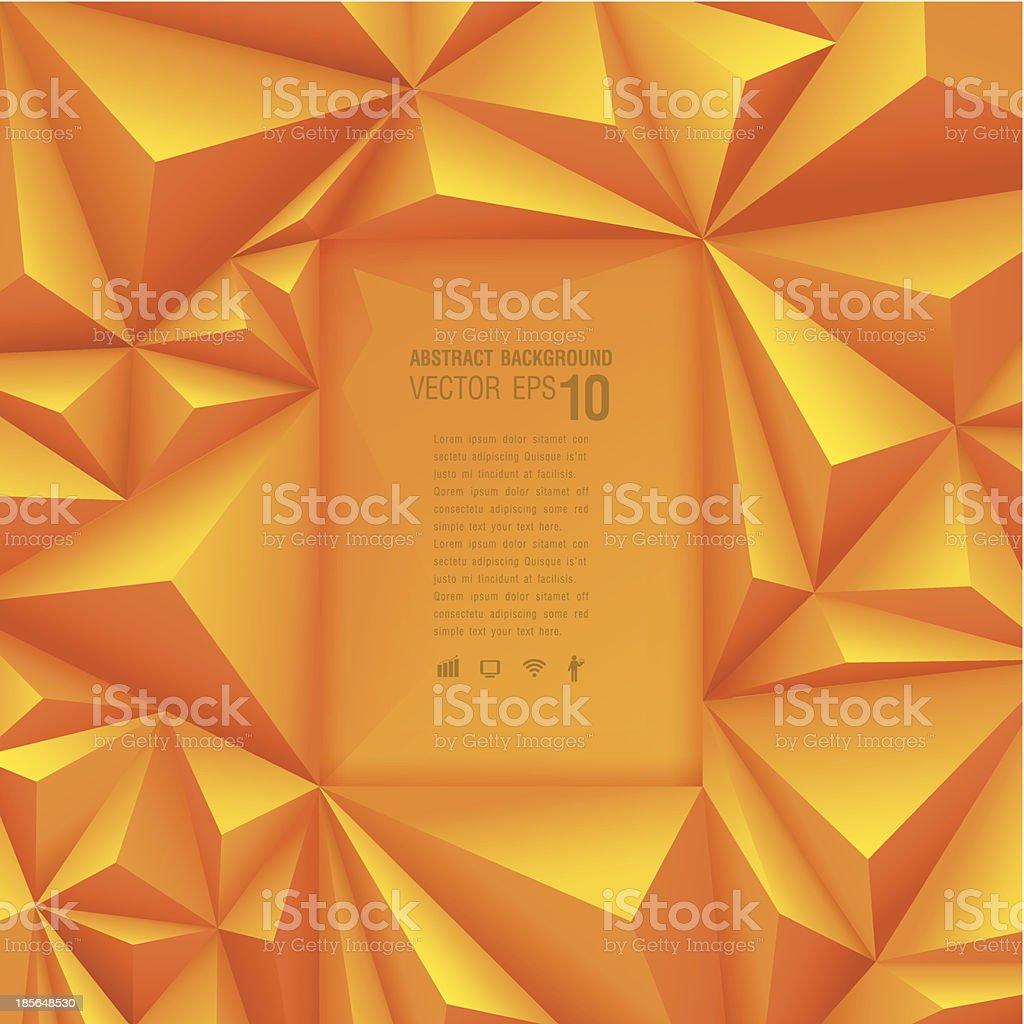 Polygonal design, Abstract geometrical background. vector art illustration