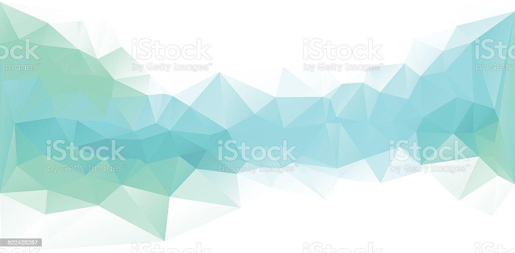 Polygonal Design Blue vector art illustration