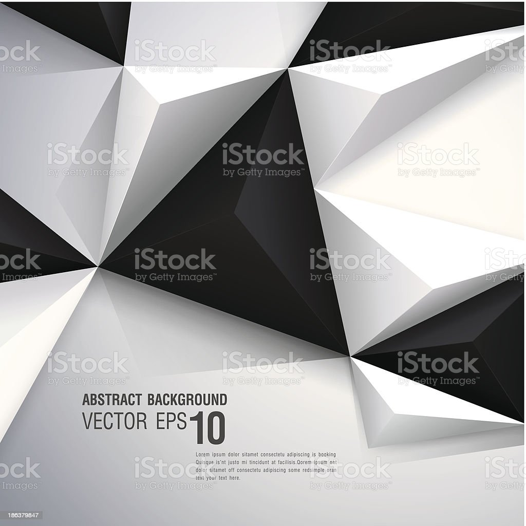 Polygonal design on abstract background royalty-free stock vector art
